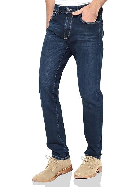 TAIPOVE Pantalón Vaquero para Hombre Recto Jeans de Hmbre Pantalón Casual de Hombre Elástico Cómodo