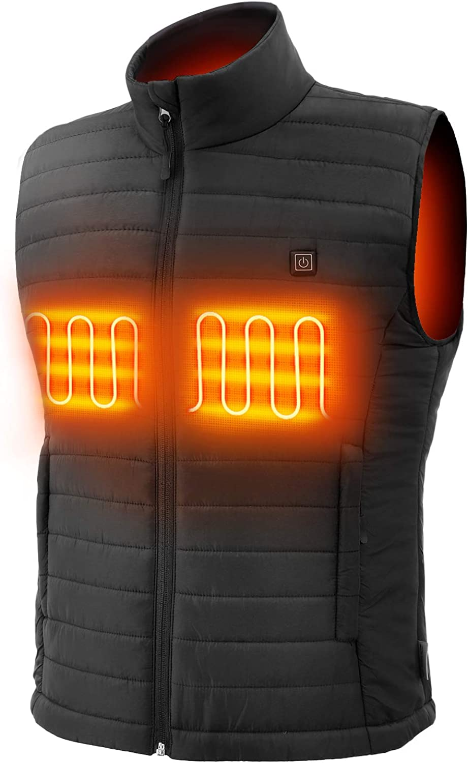 Sunbond 3M Men Heating Electric Vest Heated Vest Cold-Proof Heating Clothes Washable Four Sizes Adjustment Black