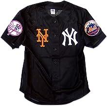 ニューヨーク ヤンキース メッツ ベースボールシャツ メッシュシャツ ユニフォーム HIPHOP ストリート スポーツ