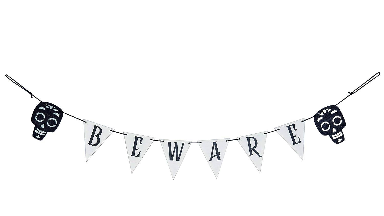 Transpac Halloween Beware Banner White