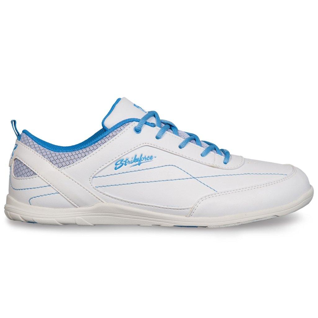 KR Strikeforce L-043-075 Capri Lite Bowling Shoes, White/Blue, Size 7.5 by KR Strikeforce