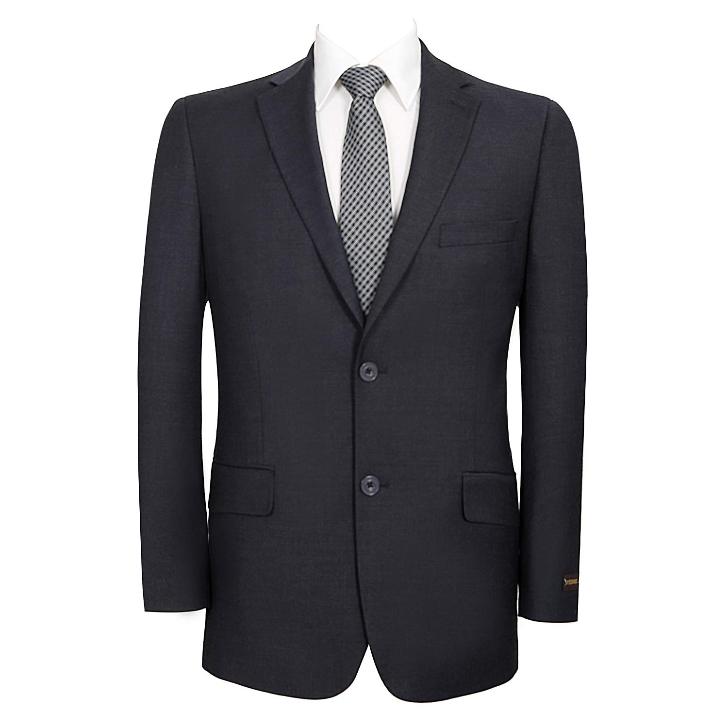 P&L Men's Premium Wool Blend Business Blazer Dress Suit Jacket Dark Blue by P&L