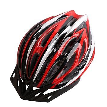 LOLIVEVE Casco de Bicicleta de Montaña Casco de Seguridad Bicicleta Ultra Ligera Lámpara de Cinturón Confort