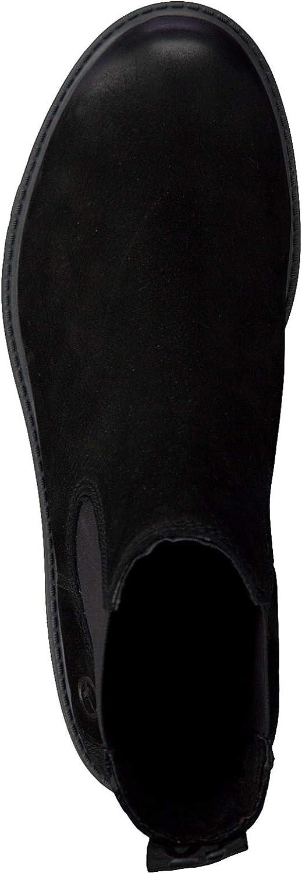 Tamaris Damen Chelsea Boots 25346-21,Frauen Stiefel,Halbstiefel,Stiefelette,Bootie,Schlupfstiefel,Nieten,Blockabsatz 4cm
