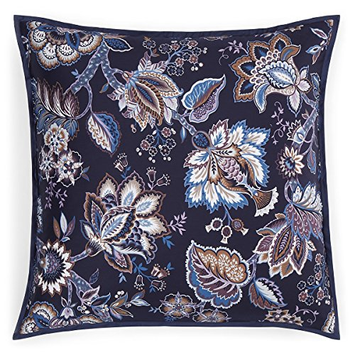 lorenza Floral 400TC Pima Cotton Euro Pillow Sham Navy $115 ()