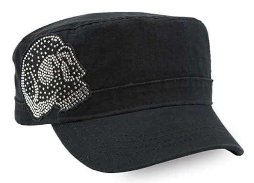 ea6f31f01 Harley-Davidson Women's Embellished Krystal Skull Painter's Cap, Black  PC26530