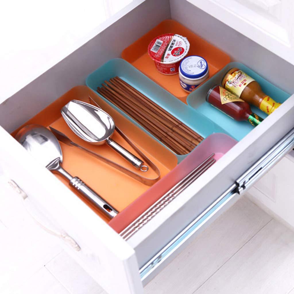 JUNESUN Drawer Kitchen Cutlery Tableware Case Makeup Storage Box Home Organizer Plastic by JUNESUN (Image #3)