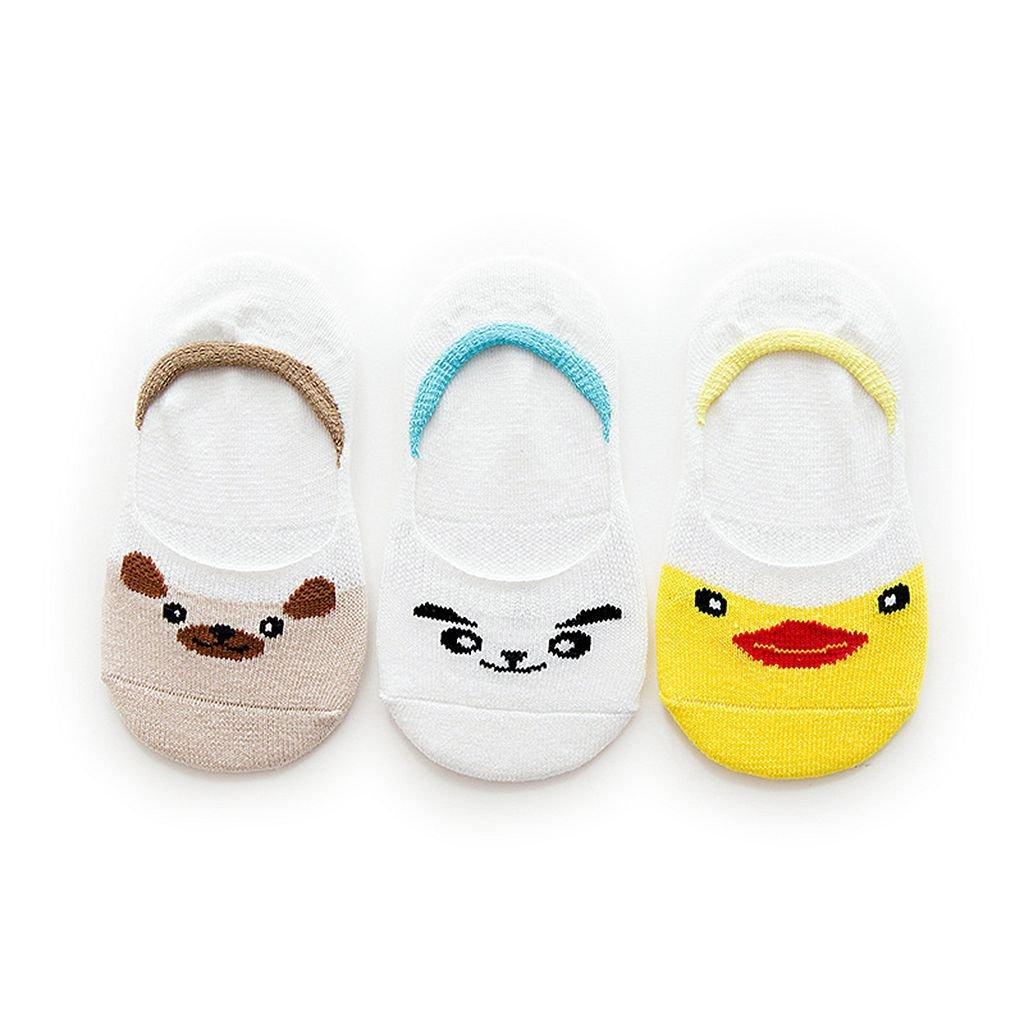 OLIVE OLIVIA Boys Girls No Show Socks 3-Pack (Toddler/Little Kid/Big Kid)