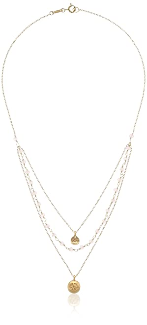 Intelligent White Freshwater Pearl & Rose Gold Plated Chain Pendant Necklace Jewellery & Watches Costume Jewellery