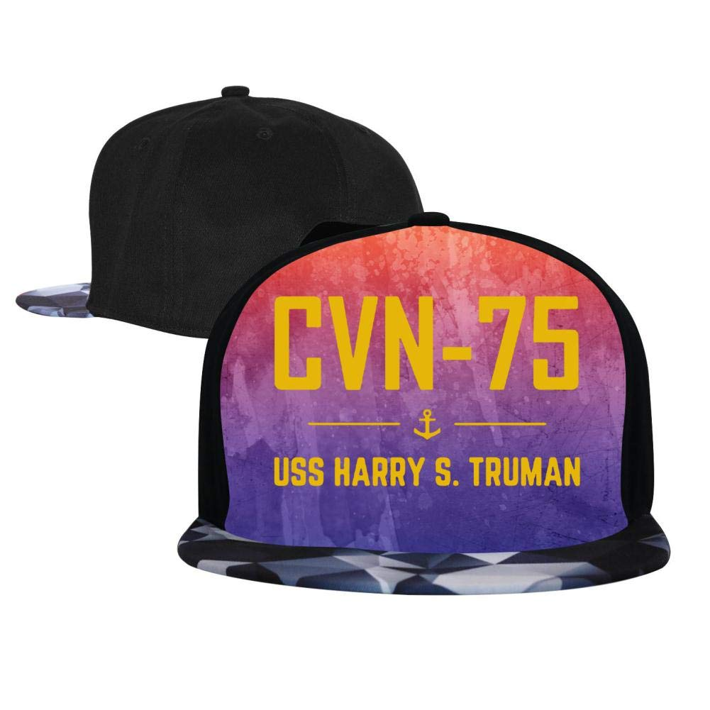 Adjustable Hip Hop Flat-Mouthed Baseball Caps EUYK77 CVN-75 USS Harry S Mens and Womens Trucker Hats