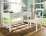 Oslo Writing Desk Set w X-Back Chair in White