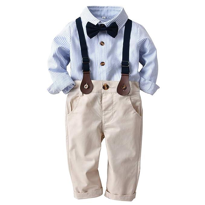Amazon.com: Conjunto de ropa de manga larga con lazo para ...