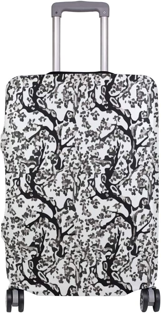 Pandas In The Foliage Tree Branches Travel Suitcase Protector Zipper Suitcase Cover Elastic
