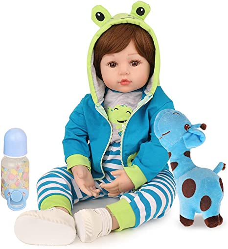 CHAREX Reborn Toddler Boy w/Frog Outfit, 18
