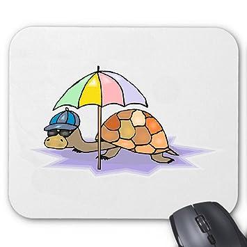 """Alfombrilla de ratón (ratón) """"tortuga con el paraguas de dibujo de schreck"""
