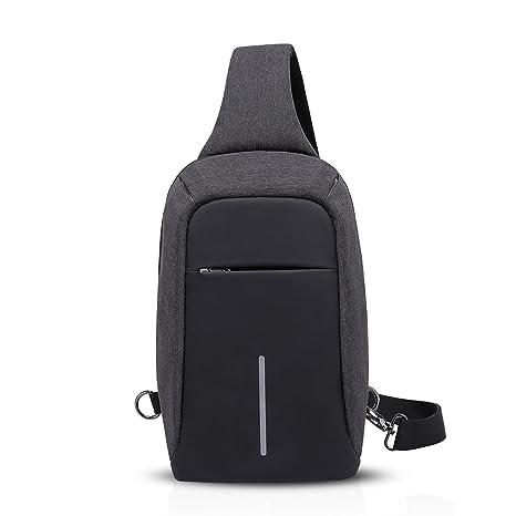 b25c0364ea96 FANDARE Sling Bag Crossbody Backpack for Women Men Cycling Hiking Camping  Travel Bag Waterproof Polyester Black  Amazon.ca  Luggage   Bags
