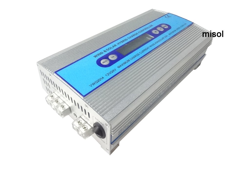 MISOL Hybrid Wind solar charge controller, Solar Charge Controller, wind regulator, 12V 24V wind charge controller/Hybrid Wind Solarladeregler, Solarladeregler, Windregler, 12V 24V Windladeregler