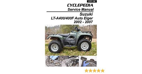 CPP-186-Print Suzuki Auto Shifter Eiger LT-A400 400F ATV ... on