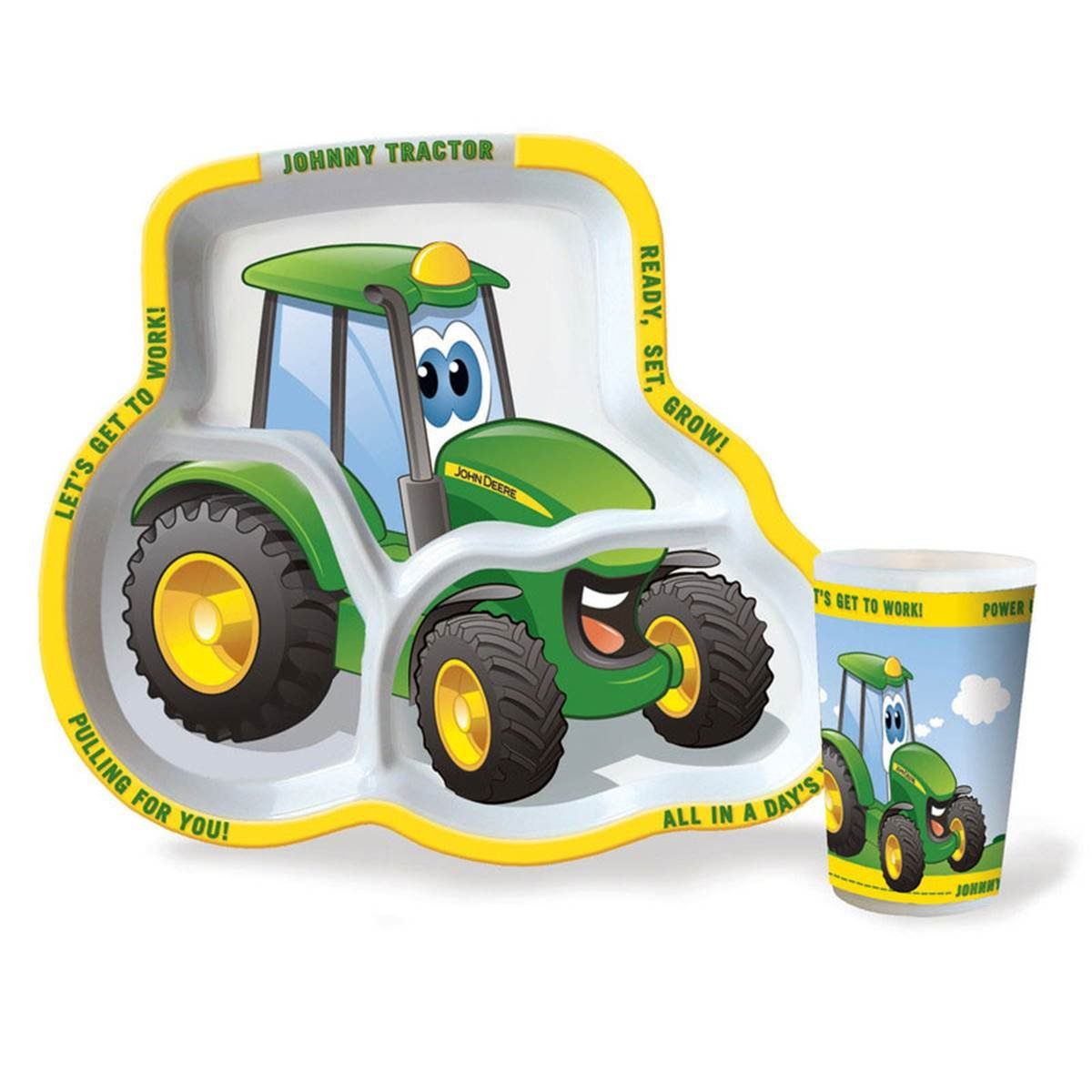 John Deere Childrens Johnny Tractor Plate & Cup Set (6)