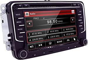 HIZPO Auto Car SUV CD DVD GPS Radio Player Window CE fit for VW Volkswagen CC Jetta Passat Tiguan Polo Golf Skoda Seat 7 Inch Free Map Navigation Mp3 Player Canbus System