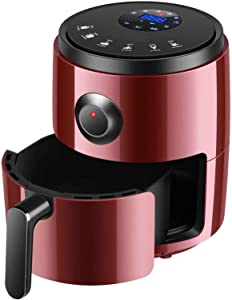 TYUIOO Oil free air fryer (recipe free) 1200W hot air fryer with break-point memory touch screen digital timer and temperature control dishwasher safe removable non-stick basket for a healthier life r