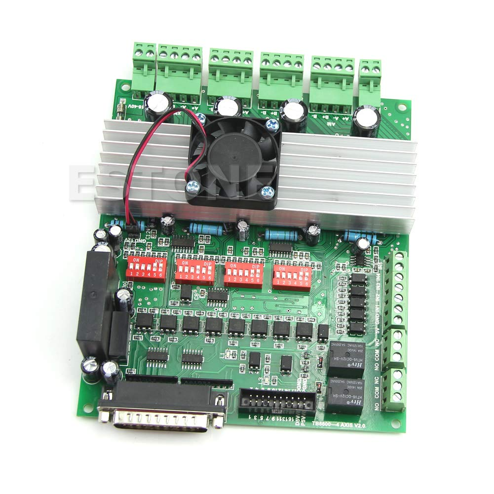 Huilier 4 Axis TB6600 CNC Controller Max Current 5A 36V Stepper Motor Driver Board