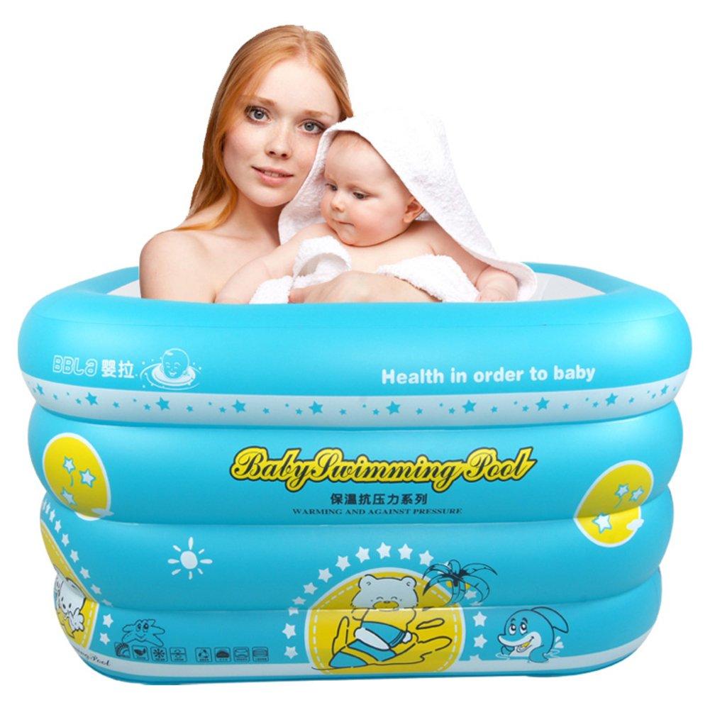 Baby Schwimmbad/Home Neugeborene Kinder die Bäder/Isolierung verdickte Kinder Planschbecken/Aufblasbare Babyschwimmen Fässer-A