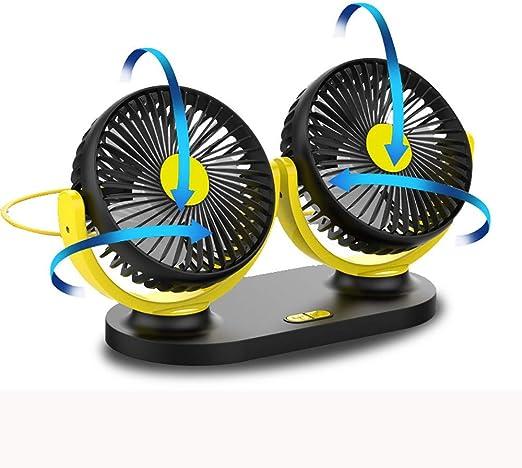 ZHONGXIN Ventilador Eléctrico para Coche, Ajustable Ventilador ...