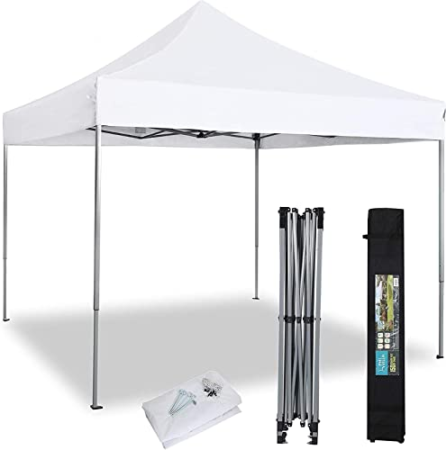 PHIVILLA 10' x 10' Commercial Pop Up Outdoor Canopy Tent Instant Reinforce Canopie
