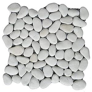 """Margo Garden Products PT-NATWTE Rain Forest 12""""x12"""" Pebble Tiles (5.0 sq ft/case)"""