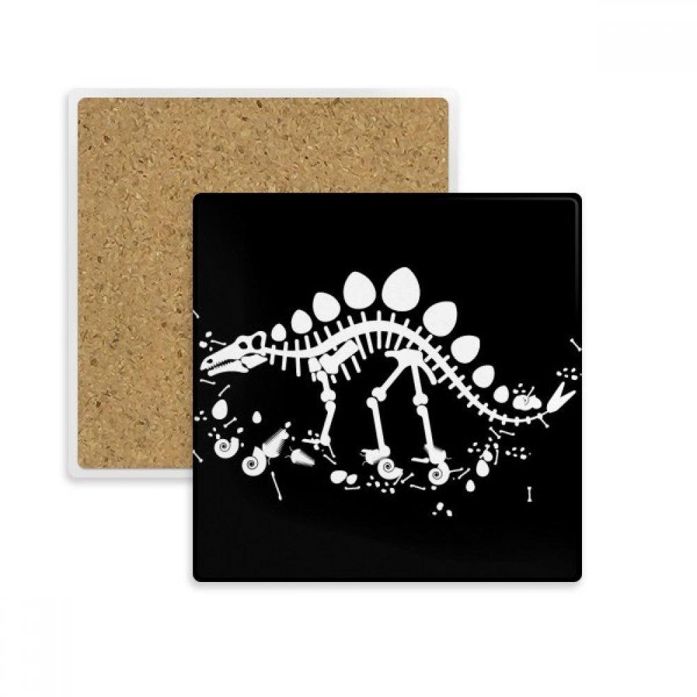 Dragon Grass Hugeステゴサウルス正方形コースターカップマグホルダー吸収性ストーンDrinks 2個のギフト   B07B2PQ1RH