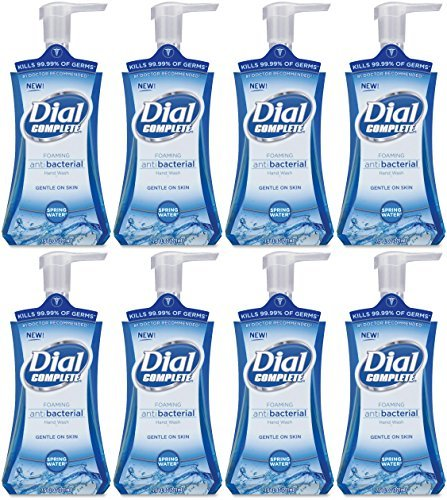 Dial Complete Foaming Hand Wash Spring Water, 7.5 Ounce(Pack of 8)