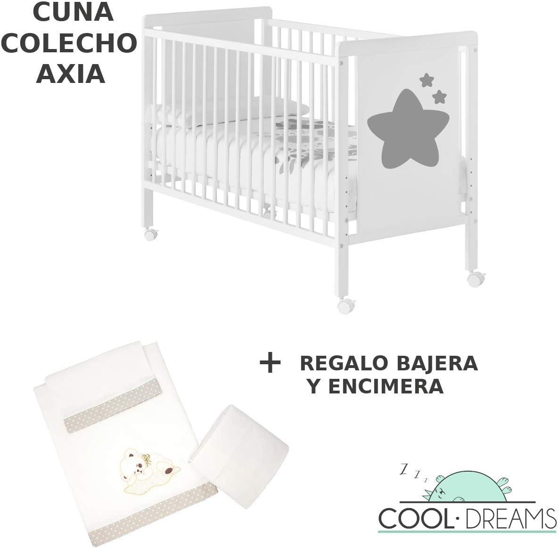 Cuna colecho Axia 120x60 + kit colecho + bajera + encimera Cool-Dreams©