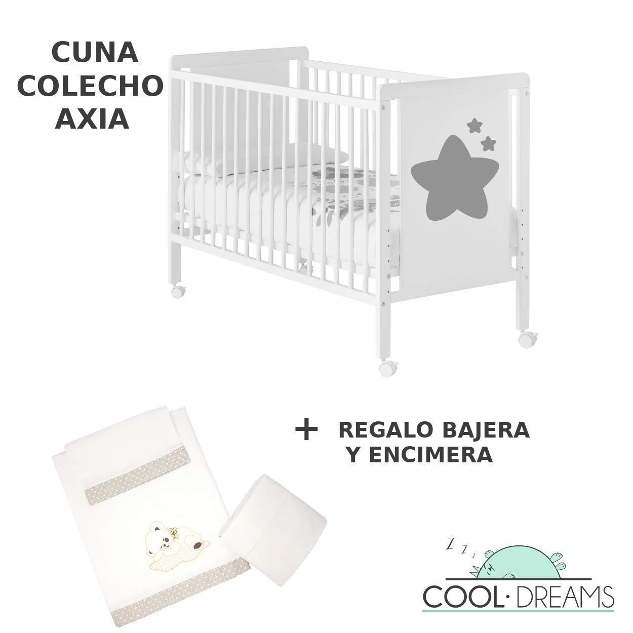 Cuna colecho Axia 120x60 + kit colecho + bajera + encimera Cool ...