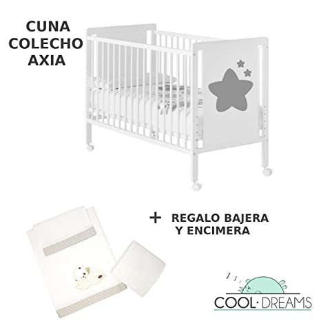 Cuna colecho Axia 120x60 + kit colecho + bajera + encimera ...