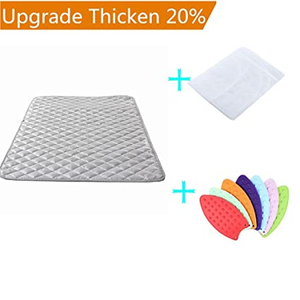 Upgraded Thick Ironing Blanket,Portable Ironing Mat With Silicone Pad,and  Press Ironing Cloth