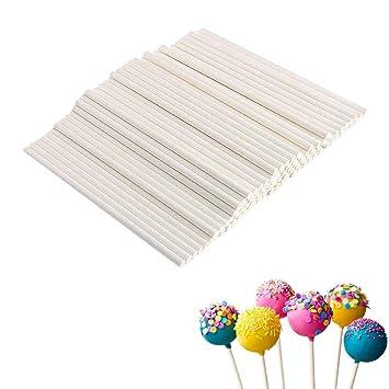 Dubens 100 Stuck Papier Cake Pop Sticks Kitchencraft Stiele Fur