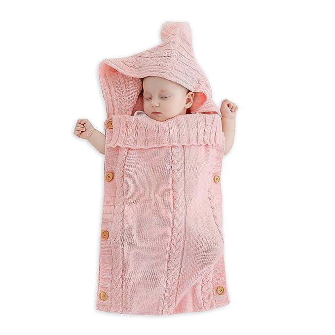 Huatuo Colorido Recién Nacido Bebé Wrap Swaddle Manta, Bebé Niños Niño de Lana Manta de Punto Swaddle Saco de Dormir ...