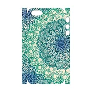 Personalized New Print Case for Iphone 5,5S 3D, Mandala Doodles Phone Case - HL-552255