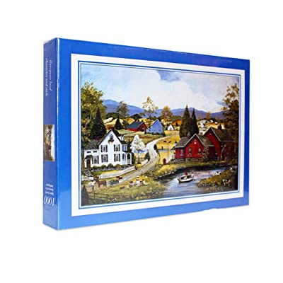 1000 Piece Puzzles for Adults Jigsaw Puzzle Intellective Educational Toy - Beautiful Town: Toys & Games