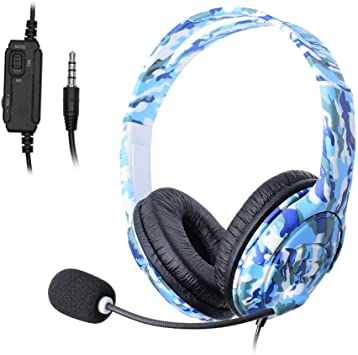 MTSSH para Ps4 Wired Gaming Headset Auriculares Auriculares con ...