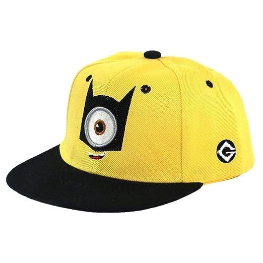 345ca334c81 Minion Teen Age Hip-Hop Baseball Cap with Adjustable Snapback (One Eye)