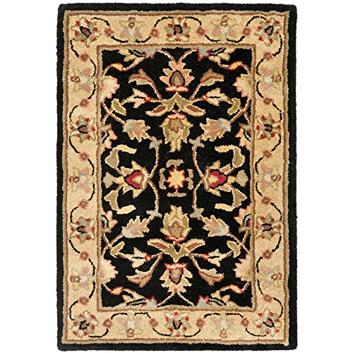 Safavieh Heritage Collection HG957A Handcrafted Traditional Oriental Black and Gold Wool Area Rug (2' x 3')