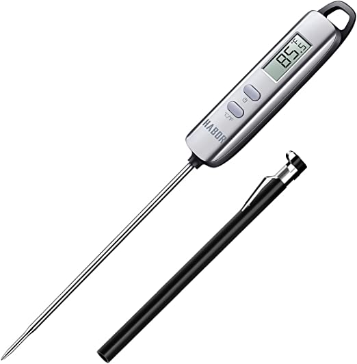 LCD Digital Food Thermometer Probe Kitchen Cooking BBQ Meat Milk Jam Temp Tester