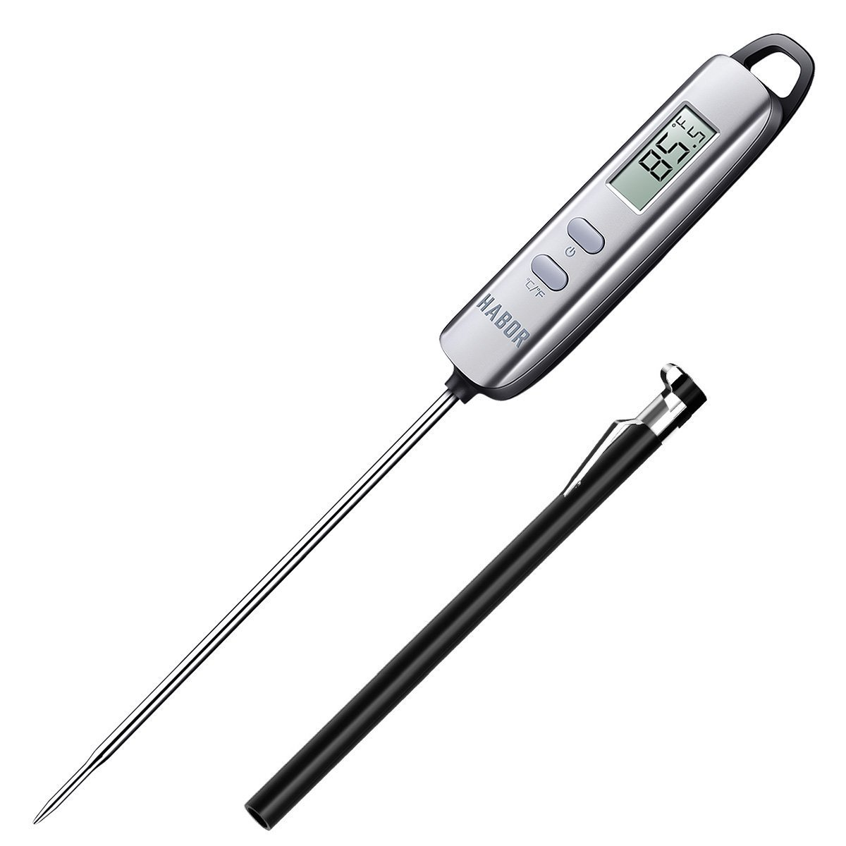 Habor 022 Meat Thermometer, Instant Read Thermometer Digital Cooking Thermometer, Candy Thermometer with Super Long Probe for Kitchen BBQ Grill Smoker Meat Oil Milk Yogurt Temperature by Habor