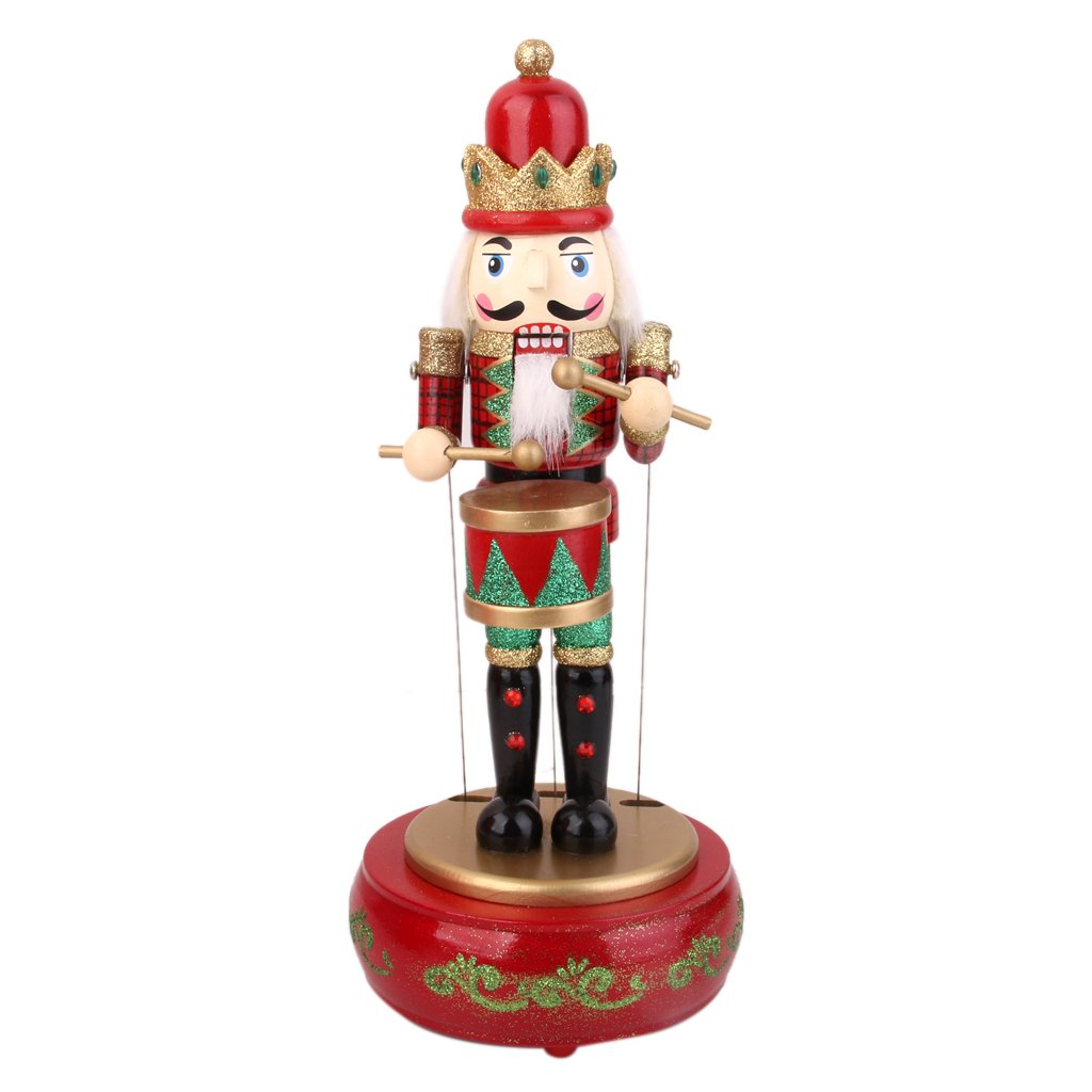 Homyl Wooden Drummer Nutcracker Christmas Gift Home Office Decor