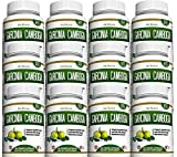 Garcinia Cambogia Weight Loss Supplement - 95% HCA Carb Blocker Pure Extract Fat Burner Diet Pills Appetite Suppressant Energy Booster for Health and Wellness Made in the USA, 12 Bottles 180 Capsules
