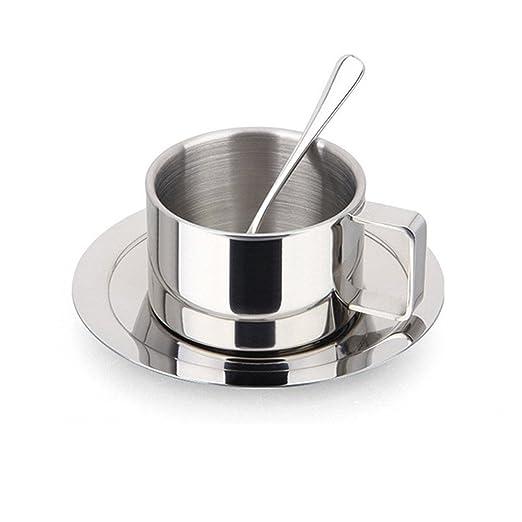 Bluelasers - Juego de tazas de café (acero inoxidable, taza ...