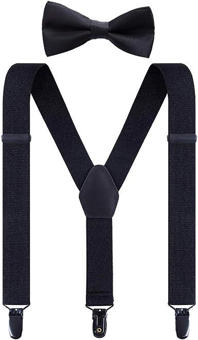 Kids Suspenders Y Back Metal Clips Adjustable Suspender for Boys and Girls