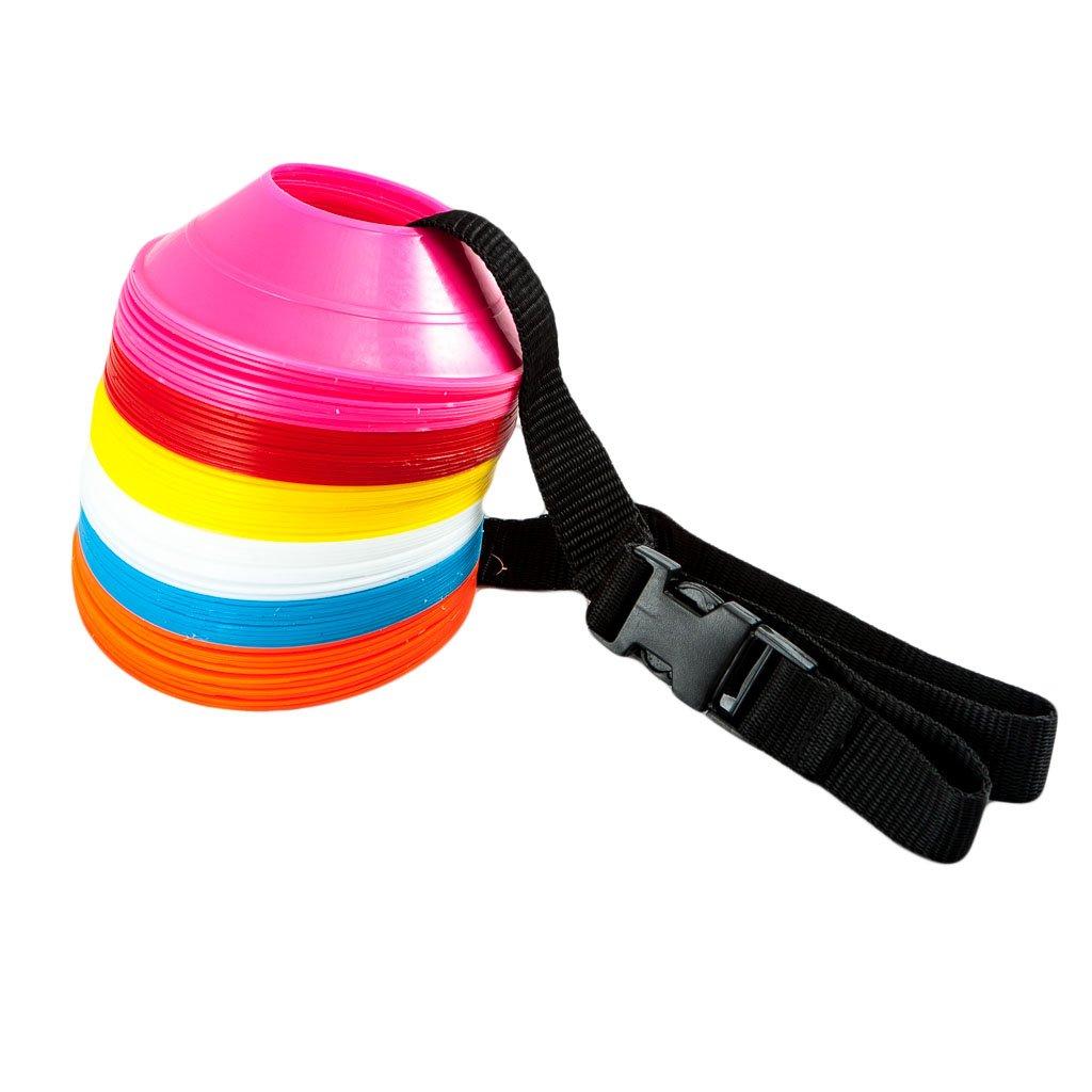 FH Pro Multi-function Agility-Coni da Rugby sul campo da calcio per allenamento sportivo The Sticker Factory-Mini-Set con piattino a forma di cono, 60 pezzi Fitness Health ® FH-Mini-60